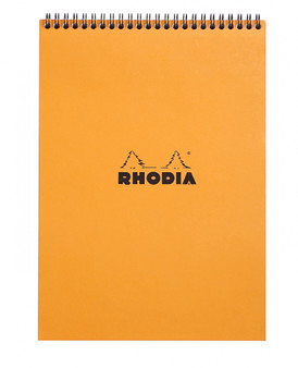 "Rhodia Wirebound Pad 8X11"" Graph Orange"