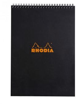 """Rhodia Wirebound Pad 8X11"""" Graph Black"""