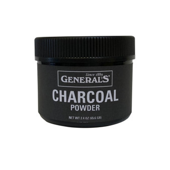 General Pencil Charcoal Powder 2.4oz Jar