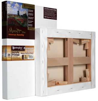 "Masterpiece Monet Pro Monterey 7oz Stretched Canvas 12X48"" - OVERSIZED"