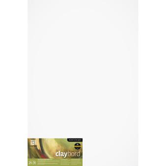 "Ampersand Panel Claybord Smooth Flat 1/8"" 24X36"
