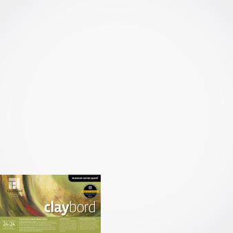 "Ampersand Panel Claybord Smooth Cradled 1.5"" 24X24"