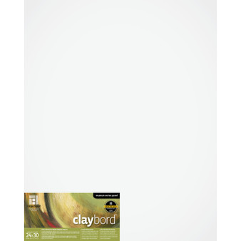 "Ampersand Panel Claybord Smooth Cradled 2"" 24X30"