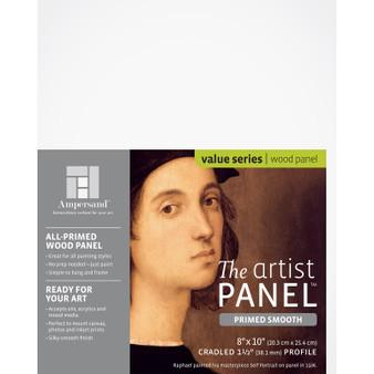 """Ampersand Artist Panels Smooth Primed Cradled 1.5"""" 8X10"""