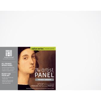 """Ampersand Artist Panels Smooth Primed Cradled 1.5"""" 11X14"""