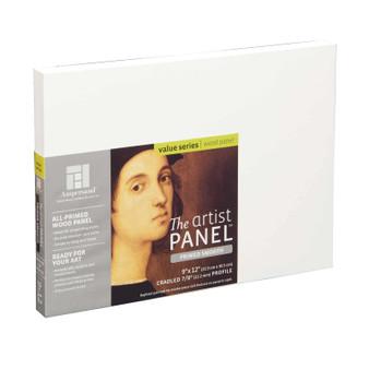 """Ampersand Artist Panels Smooth Primed Cradled 7/8"""" 9X12"""