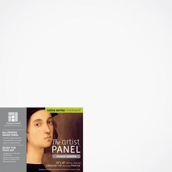 """Ampersand Artist Panels Smooth Primed Cradled 7/8"""" 16X16"""