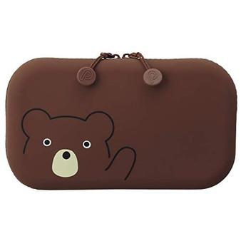 PuniLabo Soft Silicone Zipper Pouch Bear