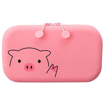 PuniLabo Soft Silicone Zipper Pouch Pig