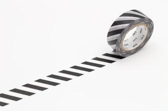 MT Washi Tape Stripe Black 2