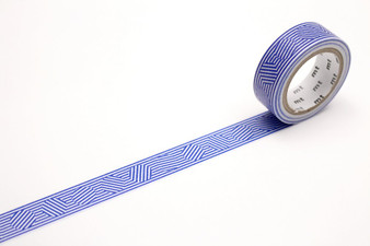 MT Washi Tape Border and Circle Blue