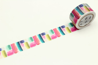 MT Washi Tape 24mm Muralla Watercolor Stripe