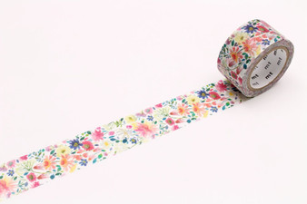 MT Washi Tape 24mm Watercolor Zinnia