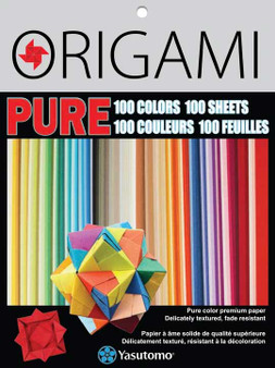 Yasutomo PURE Color Origami Mini 100 Colors 100 Sheets 3""