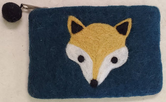 Nepali Felted Pouch Fox