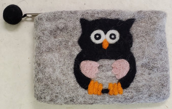 Nepali Felted Pouch Owl