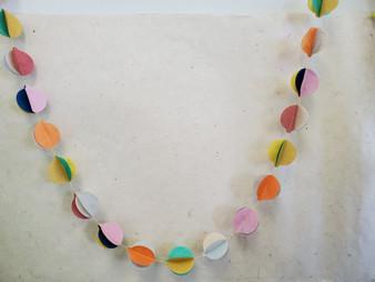 Paper Garland 3D Balls Pastel