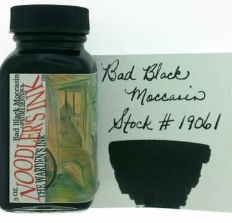 Noodler's Fountain Pen Ink 3oz Bad Black Moccasin