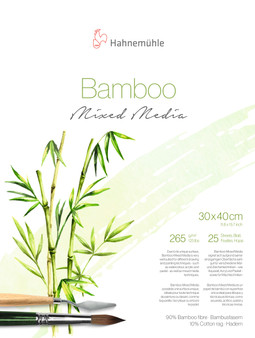 "Hahnemuhle Natural Line Bamboo Mixed Media Block 265gsm 25 Sheet 30x40cm (12X16"")"