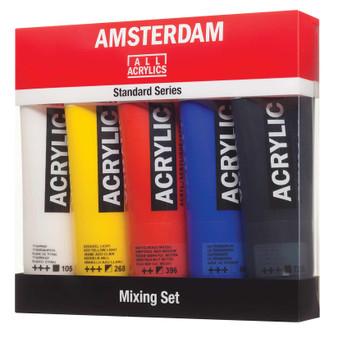 Amsterdam Acrylic Paint 120ml 5 Tube Mixing Set