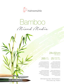 "Hahnemuhle Natural Line Bamboo Mixed Media Block 265gsm 25 Sheets 24x32cm (9.5X12.5"")"