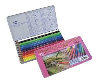 Holbein Colored Pencil Set 12 Design