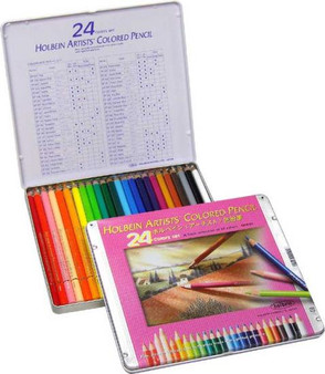 Holbein Colored Pencil Set 24