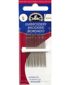 DMC Hand Embroidery Needle Size 5 -16pc