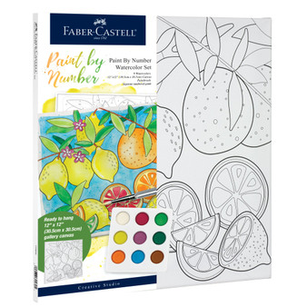 Faber-Castell Watercolor Paint by Number Produce