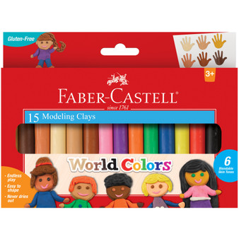 Faber-Castell Premium Children's Product World Colors 15ct Modeling Clay