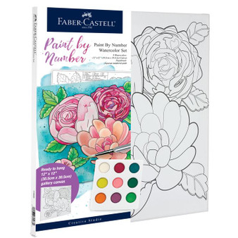 Faber-Castell Watercolor Paint by Number Floral
