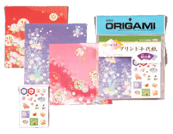 "Aitoh Origami Chiyogami Patterns 6"" 32 Sheet Pack"