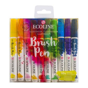 Talens Ecoline Brush Pen Set of 10 Illustrator