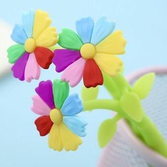 BC Mini Lucky Rainbow Flower Toy Gel Pen