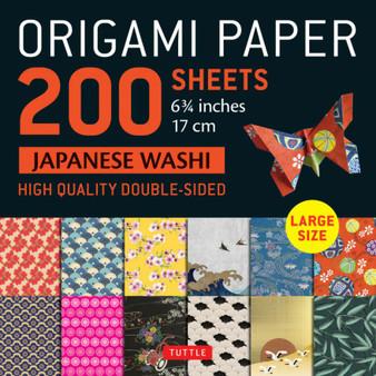 "Origami Paper 200 Sheet Japanese Washi Patterns 6 3/4"""