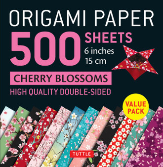 Origami Paper 500 Sheets Cherry Blossoms Pattern 6""