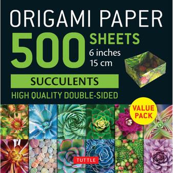 """Origami Paper 500 Sheets Succulents Print 6"""""""