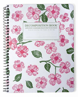 Michael Roger Press Decomposition Spiral Bound Ruled Notebook Dogwood