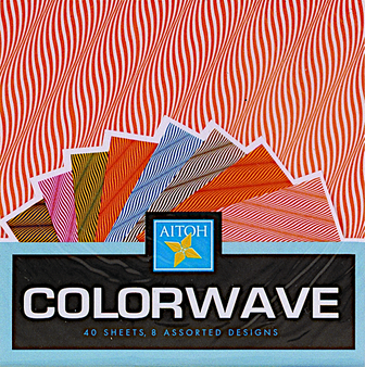 """Aitoh Origami Color Wave 40 Sheets 5 7/8"""""""