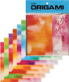 """Aitoh Origami Tie Dye Colors 36 Sheets 5 7/8"""""""