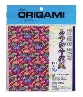 """Aitoh Origami Pines & Waves 5 7/8"""""""