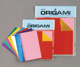 """Aitoh Origami 2-Sided Color/Foil 18 Sheets 4.5"""""""