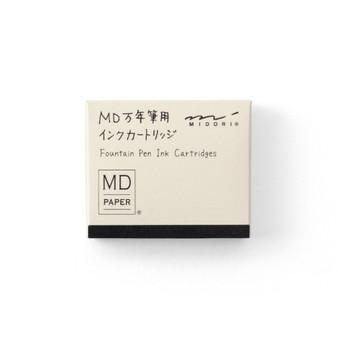 Midori Fountain Pen Ink Cartridge 6 Pack Black