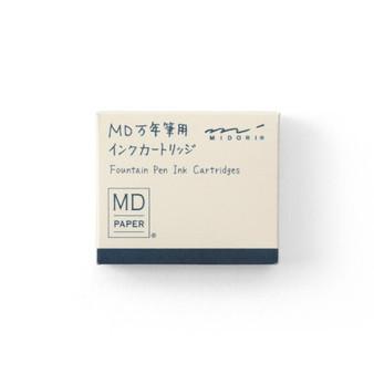 Midori Fountain Pen Ink Cartridge 6 Pack Blue/Black