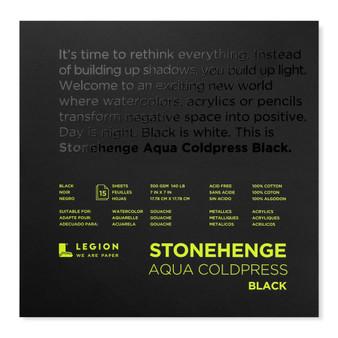 Stonehenge Aqua Black Watercolor Pad 140lb Cold Press 7X7