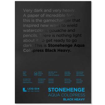 Stonehenge Aqua Black Watercolor Pad 300lb Cold Press 9X12