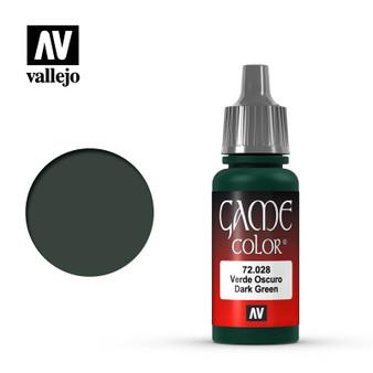 Vallejo Game Color Acrylic 17ml Dark Green