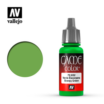 Vallejo Game Color Acrylic 17ml Scorpy Green