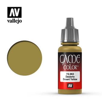 Vallejo Game Color Acrylic 17ml Desert Yellow