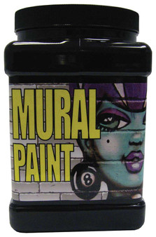 Chroma Mural Paint Half Gallon Blacktop Black